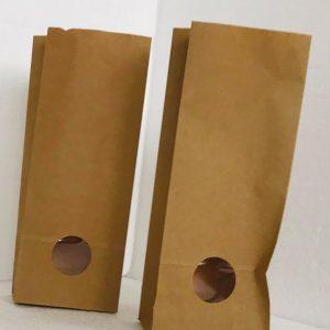Sacchi in carta da 1 kg con finestra 10x6x29