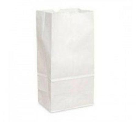 Sacchetti di carta Bianchi da 2 kg con fondo quadro