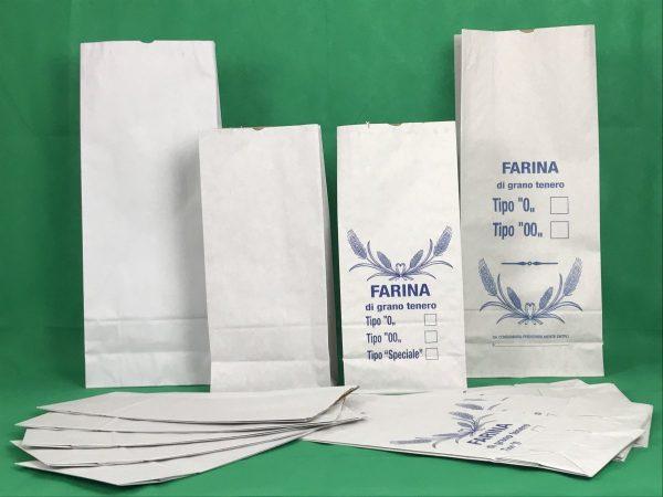 Sacchi di carta bianchi da 5 e 10 kg di Farina